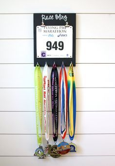 Running Race Bib and Medal Display - Race Bling
