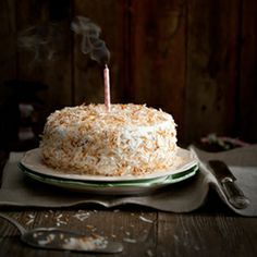 Coconut And Hazelnut Birthday Cake