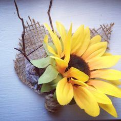 Men's boutonnière with Rustic sunflowers  on Etsy, $8.95