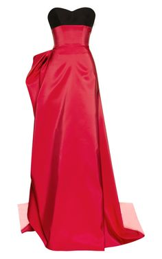 Shop Silk Faille Gown With Ribbon by Carolina Herrera for Preorder on Moda Operandi