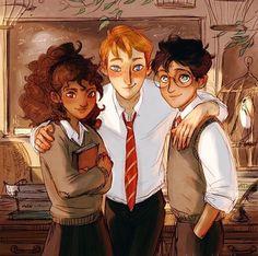 The Trio | Hermoine, Ron & Harry