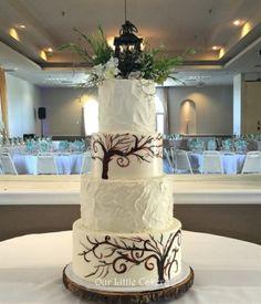 enchanted forest wedding cake