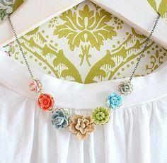 Bella Flower Necklace by NestPrettyThingsShop on Etsy, $48.00