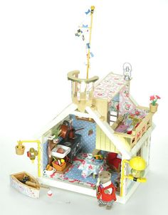 Colourful Sylvanian Families Cath Kidston Decorated Lock Keepers Cottage/House | eBay