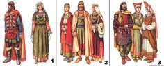 Russian gowns ~ the 10th-13th centuries