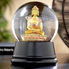 Buddha snowglobe.