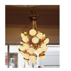 Rare, Grand Scale, 30-Light Mid Century Chandelier by Stilnovo | From a unique collection of antique and modern chandeliers and pendants  at https://www.1stdibs.com/furniture/lighting/chandeliers-pendant-lights/