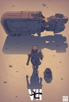 Akira inspired Star Wars: The Force Awakens art /// by Laurie Greasley
