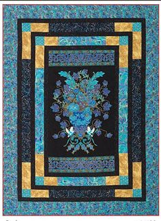 Quilt Patterns With Center Panels Fractured Glass Quilt