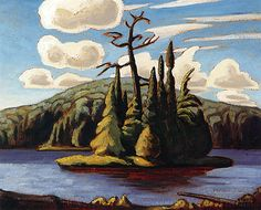 Island, Algonquin Park-Lawren Harris, ca. Tom Thomson, Emily Carr, Group Of Seven Artists, Group Of Seven Paintings, Canadian Painters, Canadian Artists, Landscape Art, Landscape Paintings, Landscapes