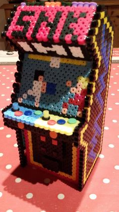 3D Arcade machine perler beads