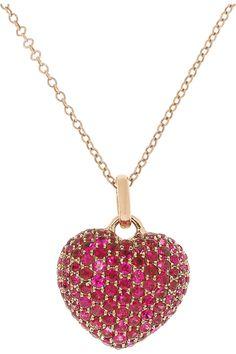 9153de7feab Anita Ko - 18-karat rose gold sapphire heart necklace