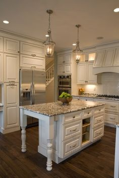 Country Cottage Style Home – Designer style kitchen (kinda like this... some of it. JP)