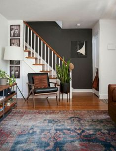 Entryway Inspiration Shop domino for the top brands in home decor and be inspired by celebrity homes and famous interior designers. domino is your guide to living with style. Mid Century Modern Living Room, Mid Century Modern Decor, Midcentury Modern, Mid Century Rustic, Eclectic Modern, Mid Century Interior Design, Mid Century Rug, Modern Boho, Rustic Modern