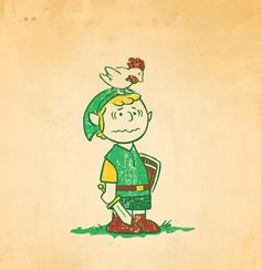 Charlie Brown as Link the hero from the Legend of Zelda series. Well, this pic hits on a lot of different characteristics. First off, I love Charlie Brown. Many a time in my life have I felt we were kindred spirits. Especially when I struck out in the bottom of the ninth with bases loaded in a little league game. Secondly, I played a multitude of video games as a kid and the Legend of Zelda was by far one of the best and most cherished.