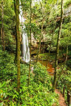 Palmas- TO, Brasil- Cachoeira da Rocandeira, localizada no distrito de Taquaruçu. Foto: Embratur