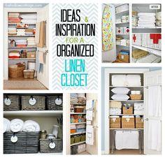 Project Linen Closet; clean and organize. Ideas for #diy #closet #orginization