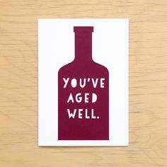 Wine Lover's Birthday Card from Plate & Pencil