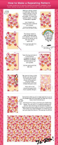 """""""Repeating Pattern Tutorial"""" by Cpresti.deviantart.com"""