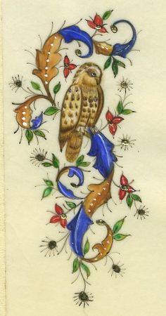 Ink Decor #owl / Decoro con l'inchiostro #gufo