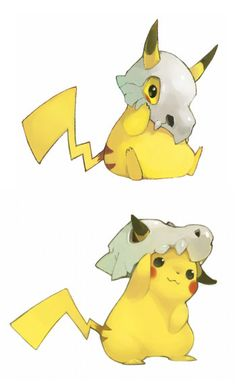 Find images and videos about pokemon, pikachu and cubone on We Heart It - the app to get lost in what you love. Black Pokemon, Pokemon Comics, Pokemon Memes, Pokemon Fan Art, Cute Pokemon, Pokemon Go, Pokemon Stuff, Robin, Catch Em All
