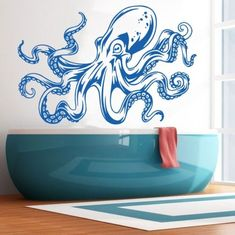 Sea-Ocean-Animal-Octopus-Tentacles-Wall-Decal-Art-Decor-Sticker-Vinyl-Mural (This one comes in different colors!)