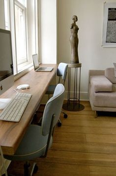 Small Space Solution: Double Desks