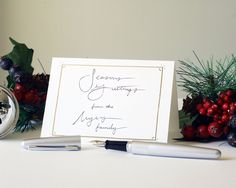 """Nothing says """"Seasons Greetings"""" like a hand-written holiday card."""