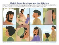 Jesus and the Children Match Game