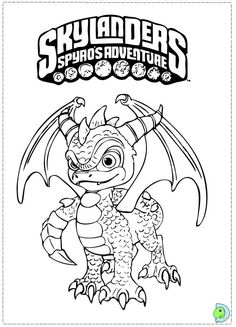 spyro coloring page color this picture of spyro coloring page with the colors of your choice do you like to color online enjoy coloring this spyro - Skylanders Coloring Pages Ninjini