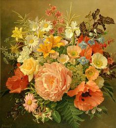 Jan Voerman jun. (Dutch, 1890-1976) - Fresh from the garden, oil on canvas, 59,5 x 53,5 cm.