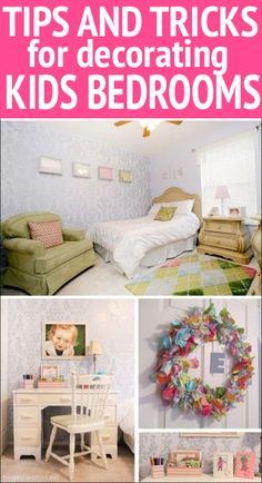Tips and tricks for decorating kids' bedrooms!