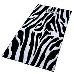 Zebra Print Microfibre Travel Towel