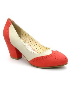 Another great find on #zulily! B.A.I.T. Coral Hansel Pump by B.A.I.T. #zulilyfinds
