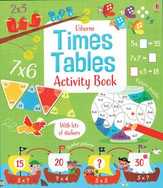 This is the first title in a new Math Activity books series (to be followed by Adding and Subtracting, Fractions and Decimals and Telling the Time). This is a write-in activity book, filled with loads of illustrated activities and scenes to help you practice your times tables. Each double spread has a different theme to tie the activities together. There are two spreads of stickers, some of which are used in the activities, some are used as rewards for 'Test Yourself' pages. Age 7+