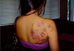 tribal plumeria tattoo - Google Search