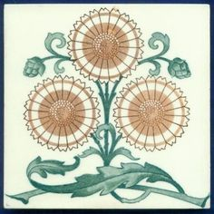 Jugendstil Fliese Kachel, Art Nouveau Tile, Tegel, Wessel, Sonnenblume Sunflower | Antiquitäten & Kunst, Porzellan & Keramik, Keramik | eBay!