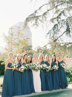 Finding Elegant Southern Charm In The Middle Of Beverly Hills Finding Elegant Southern Charm in the Middle of Beverly Hills Bridesmaid Dresses teal bridesmaid dresses Dark Teal Weddings, Teal And Grey Wedding, Wedding Colors Teal, Turquoise Weddings, Orange Weddings, Bridesmaids And Groomsmen, Wedding Bridesmaids, Wedding Dresses, Dresses Dresses