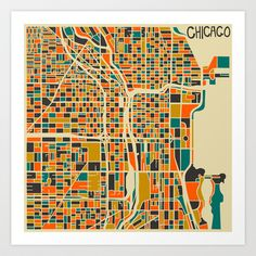 Chicago Art Print by Jazzberry Blue - $19.00