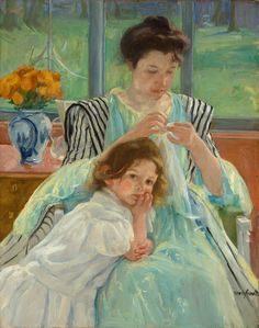 Mary Cassatt Young Mother Sewing painting is available for sale; this Mary Cassatt Young Mother Sewing art Painting is at a discount of off. Pierre Auguste Renoir, Edouard Manet, Sewing Art, Fine Art, Mother And Child, Mother Mary, Oeuvre D'art, American Artists, Les Oeuvres