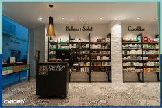 Farmacia Sabater - Mallorca  (Spain)  #Concep· #Interiordesing #design #style #interior #deco #farmacia #pharmacy