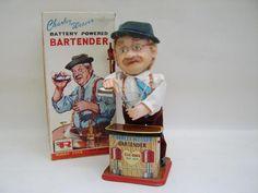 Charly Weaver Bartender - Rosko Toys - Japan - Oldtintoys