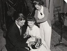 Tender: Vivien Leigh is seen seated next to leading man Clark Gable as Rhett Butler. Image courtesy of Harry Ransom Center.