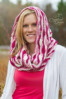 Serene Reflections Hooded Cowl by Crystalized Designs. Paid Pattern.