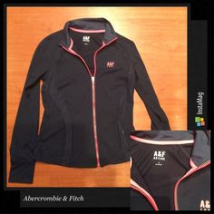 ♥️ Abercrombie & Fitch Active Jacket New ♥️ Abercrombie & Fitch active jacket, has thumb holes in sleeve, hot pink and dark navy blue, size large, new with tags. Thanks. Abercrombie & Fitch Jackets & Coats