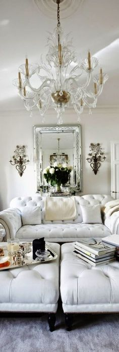 Luxury Home Design   Glass Chandelier   Beautiful Interior Ideas   Living  Room Inspiration