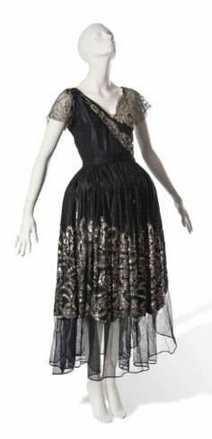 A Jeanne Lanvin Robe de Style with sequinned skirts, c.1923-4.