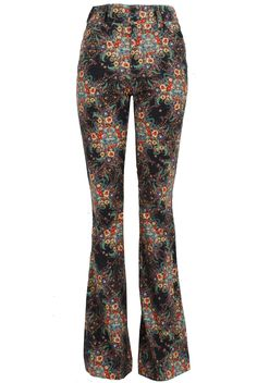 Double Button Flare Pant