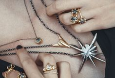 Layered gold and silver // LAUREN WOLF JEWELRY