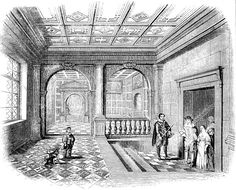 The Hall at Theobalds-The Favourite Residence of James I - At Theobalds during the years between about 1575 and 1585 Lord Burghley, a self-confessed garden enthusiast, introduced descending stairways, loggias painted with genealogies, a summer house decorated with 'twelve Roman emperors in white marble' and an equally classical motif of a fishpond. The compilers of the Parliamentary Survey in 1650 seem particularly insistent upon the movement up and down between various sections of the garden: '